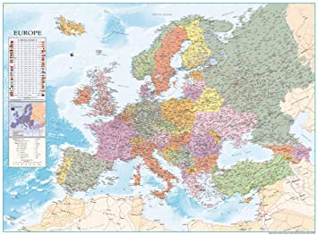 Map Of The World Close Up.Close Up Europe Map Xxxl Poster Flags 135cm X 100cm