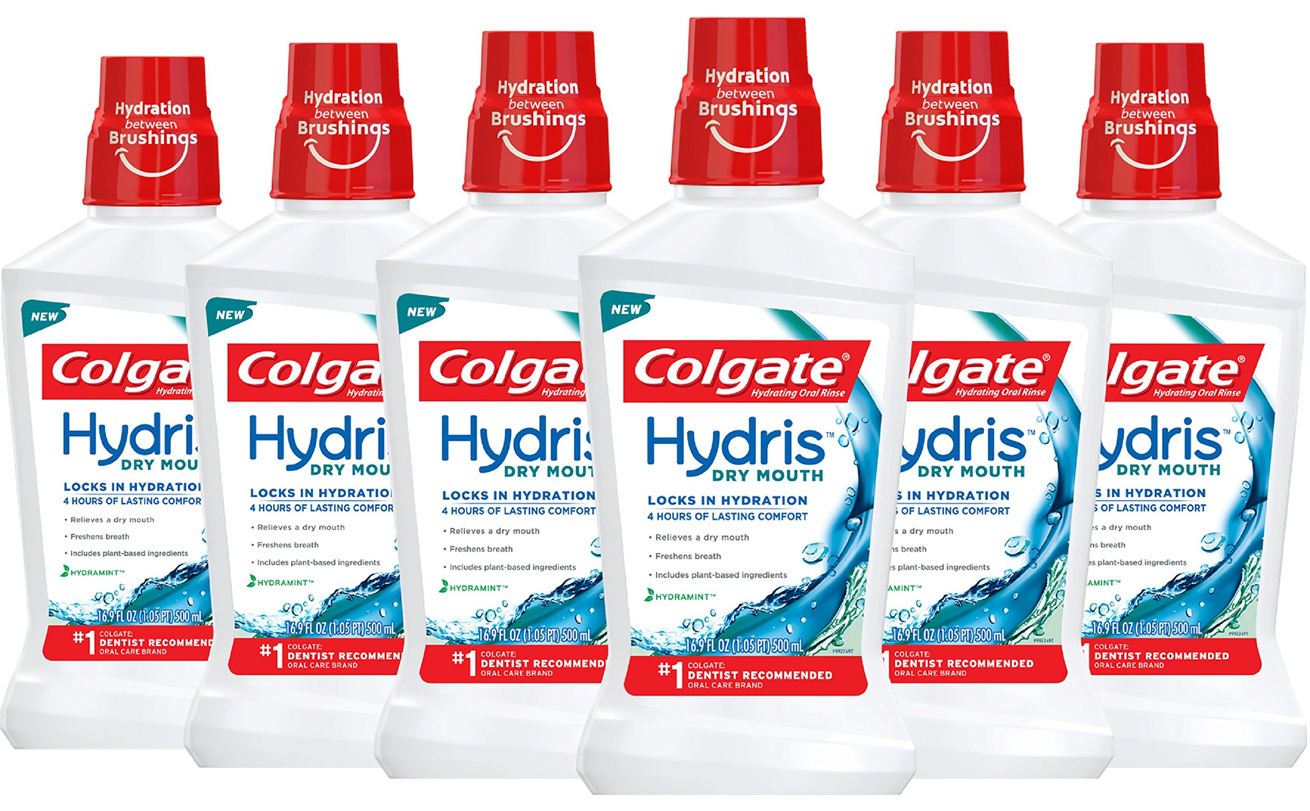 Colgate Hydris Dry Mouth Mouthwash, 16.9 fl. oz. (Pack of 6)