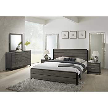 J M Furniture Verona Modern White Lacquer Leather Bedroom Set King Size Kitchen