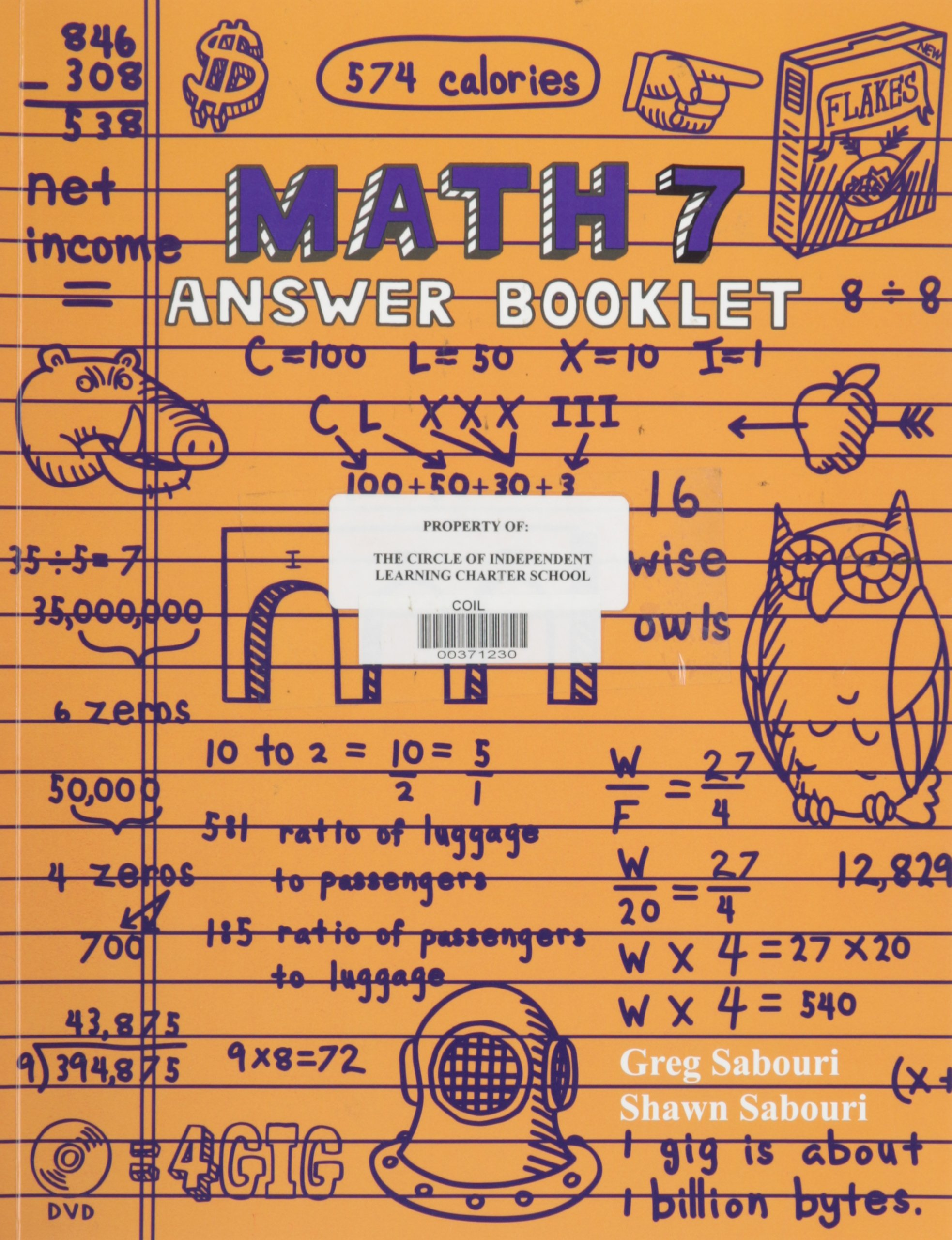 Teaching Textbooks Math 7 Answer Key: Greg Sabouri, Shawn