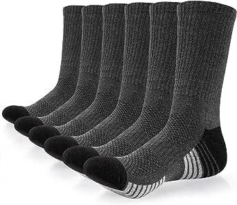 coskefy 6 Pares Calcetines Deportivos para Hombre y Mujer Calcetines Altos Algodon Transpirable Calcetin Deporte Running Antideslizantes, Gris Oscuro(39-42): Amazon.es: Ropa y accesorios