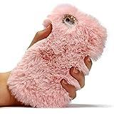 Urcover Das FELLCASE für Dein Apple iPhone 6 / 6s Handyhülle von original Fake Fur Edition [ROSA] iPhone 6/6s Schutzhülle Case Cover Etui Weich Plüsch Hülle