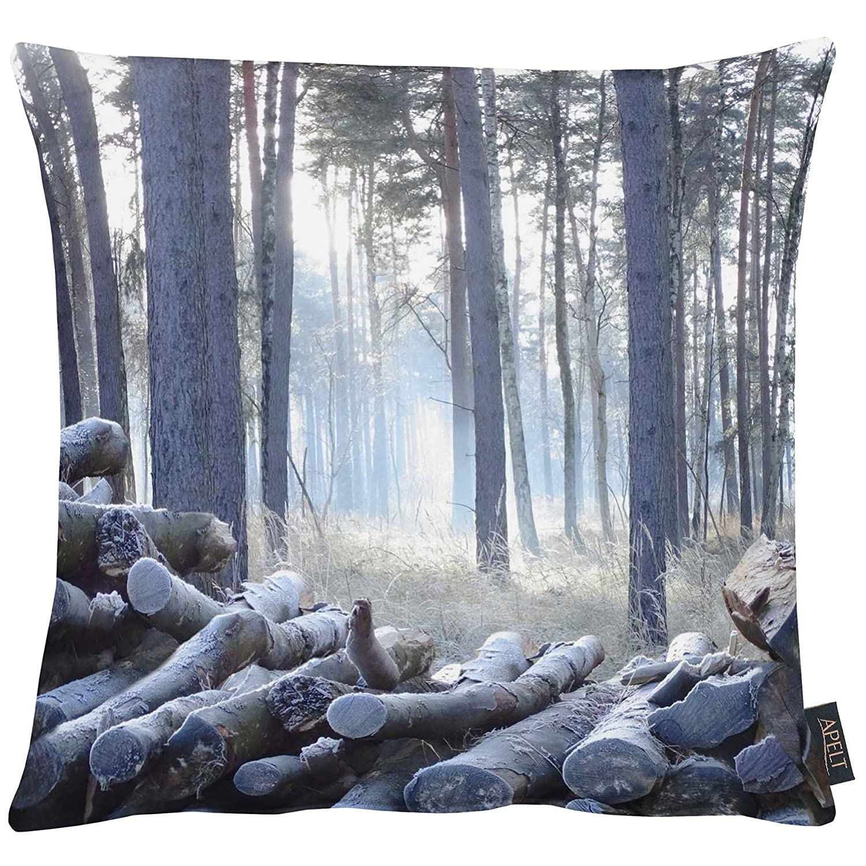 APELT Kissenhülle, Baumwolle, Baumwolle, Baumwolle, eisblau, 46 x 46 x 0.4 cm e0ee4d