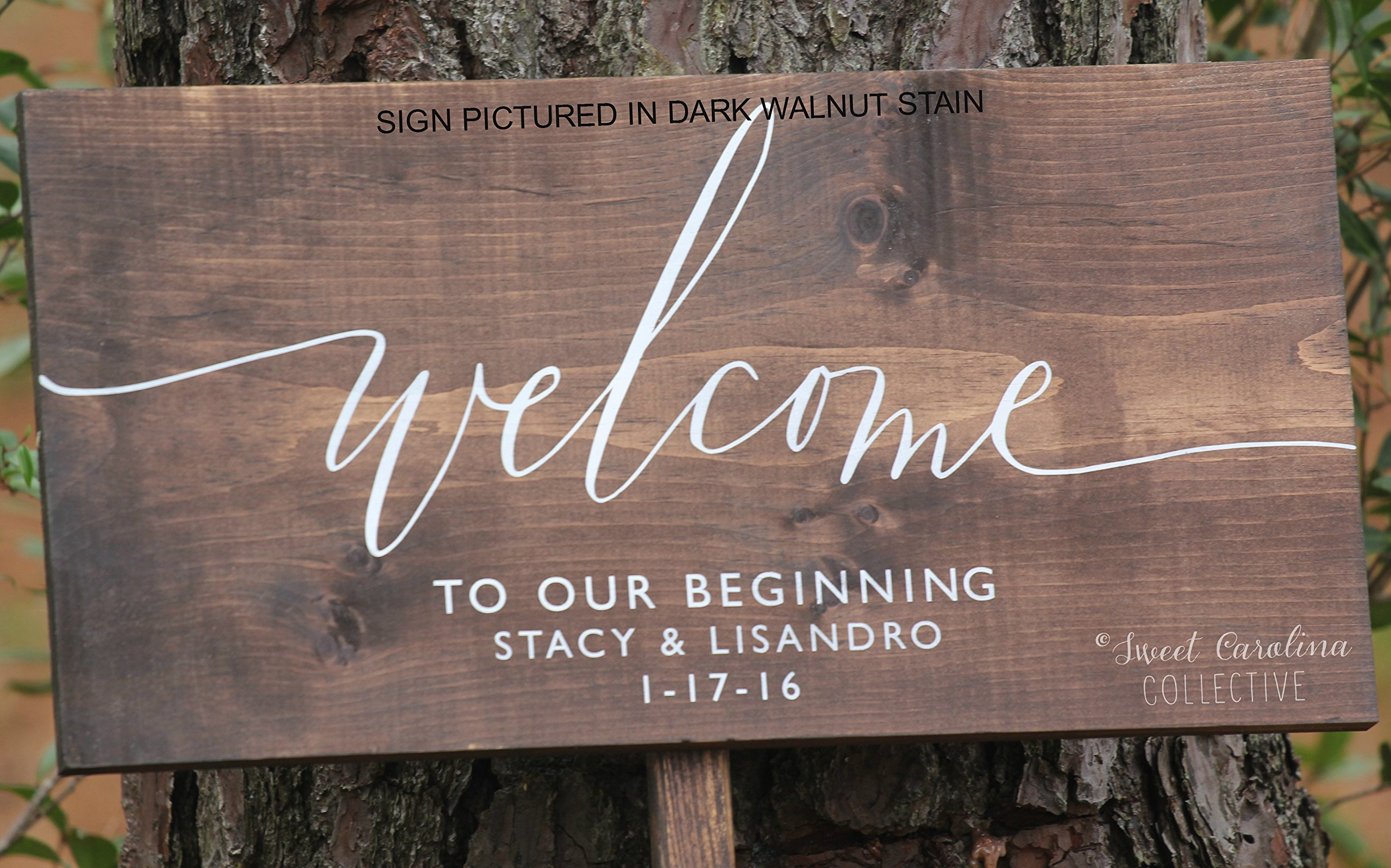 Welcome to Our Beginning Wedding Sign | Wood Wedding Welcome Sign | Welcome Wedding Sign | Wooden Welcome Sign | Wedding Welcome Sign | Welcome to Our Love Story Sign