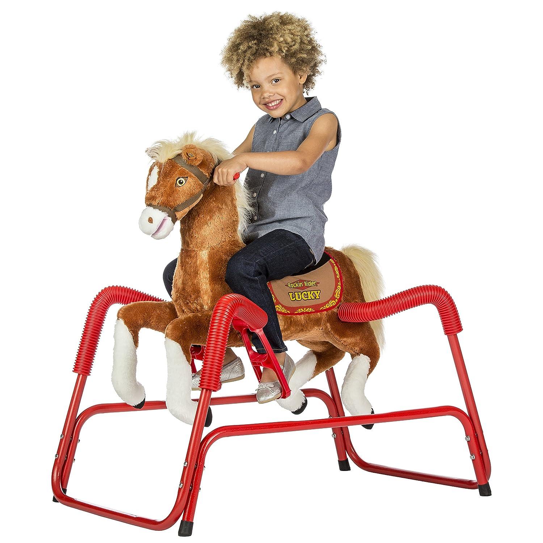 Amazon Rockin Rider Lucky Talking Plush Spring Horse Toys