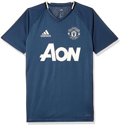 3d85db51346 adidas 2016-2017 Man Utd Training Football Soccer T-Shirt Jersey (Mineral  Blue