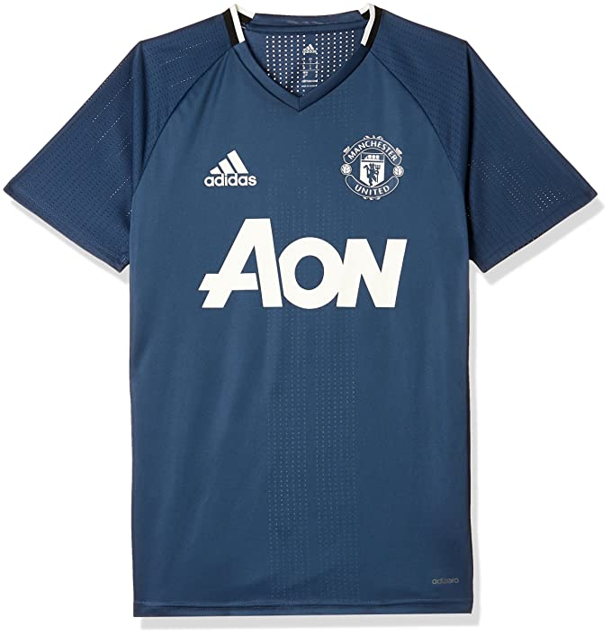 8fa88681afc Amazon.com  Adidas Manchester United FC Official 2016 17 Training Jersey -  Adult - Mineral Blue Collegiate Navy Chalk White -  Clothing