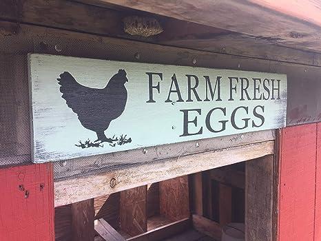 Amazon.com: Ruskin352 - Cartel de huevos frescos de granja ...