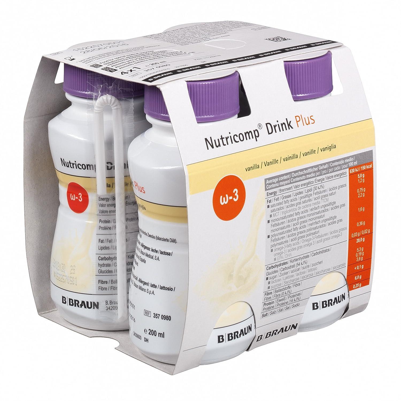 Nutricomp Drink Plus Flüssignahrung Vanille 24 x 200 ml: Amazon.de ...