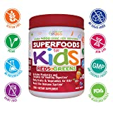 Kids Superfood Reds and Greens Juice Powder by Feel Great 365, 1 Best Tasting and Made with Real Fruits & Vegetables, includes Probiotics to Help Build Immunity*,Non-GMO, Gluten Free, Organic & Vegan
