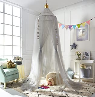 A LOVE BRAND Mosquito Net Bed Canopy Round Lace Dome Netting Hanging Curtains Princess Play Tent & Amazon.com: HAN-MM Hanging Bed Canopy Princess Play Tent Round ...