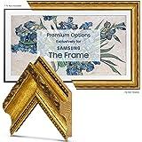"""Deco TV Frames - Ornate Gold Frame Custom for Any Size Samsung The Frame TV (6"""" Corner Sample)"""