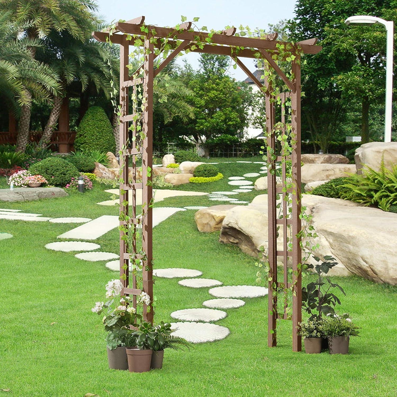 neu.holz] Pérgola de jardín para Flores o Plantas 150 x 50 x 200 cm Ancho 112 cm WPC Marrón: Amazon.es: Hogar