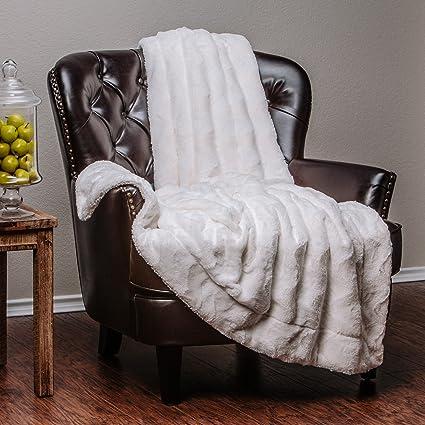 Charmant Chanasya Super Soft Warm Elegant Cozy Fuzzy Fur Fluffy Faux Fur With Sherpa  Wave Shape Embossed