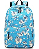 Joymoze Fashion Backpack for Women College School Bag Fit for 15.6 Inches Laptop Light Green Flower