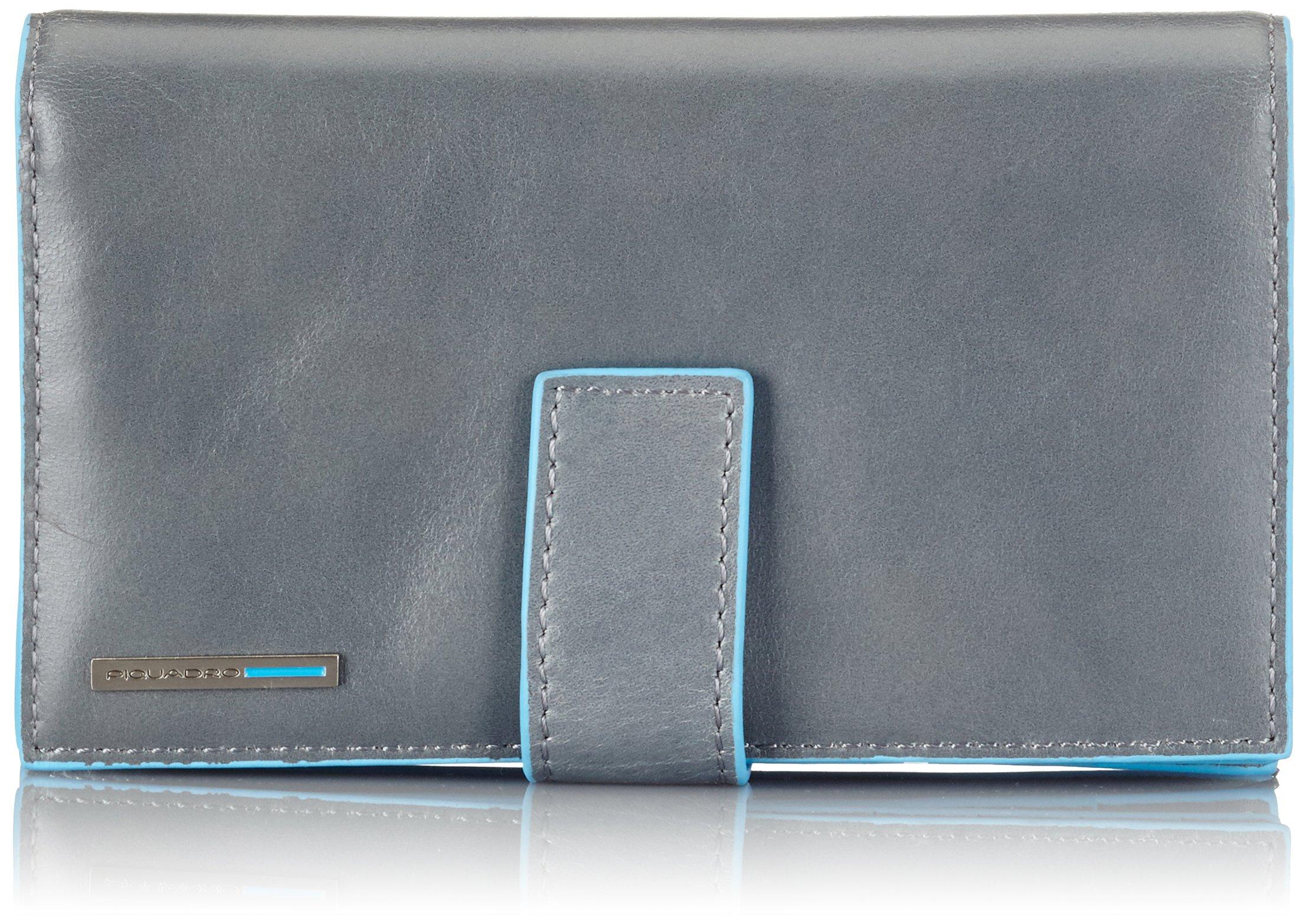 Piquadro Wallet Woman Blue Square PD1353