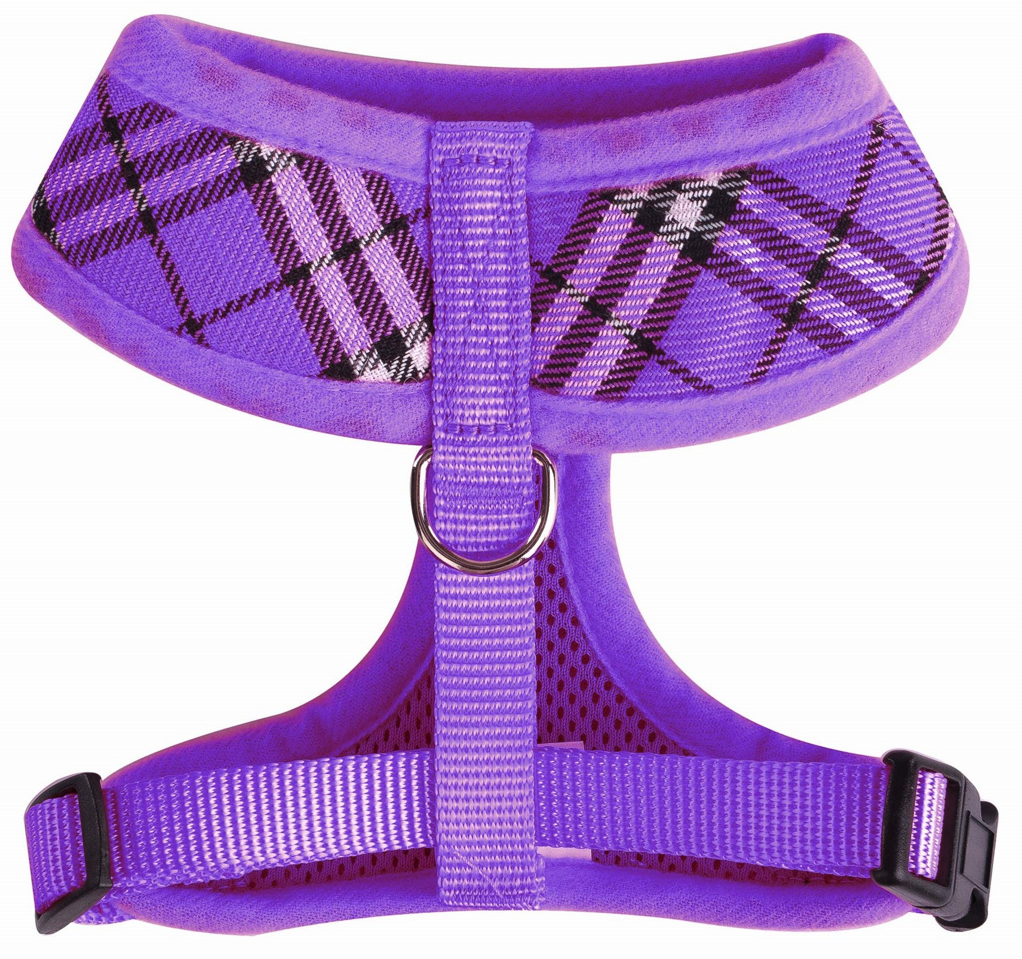 PUPTECK Soft Mesh Dog Harness Pet Puppy Comfort Padded Vest No Pull Harnesses, Purple Medium by PUPTECK (Image #2)