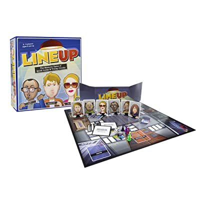 MindWare LineUp – Stimulating Memory Board Game with a Great Playing Time and Comical Crime Mystery Suspense for Ages 8 and Up: Toys & Games