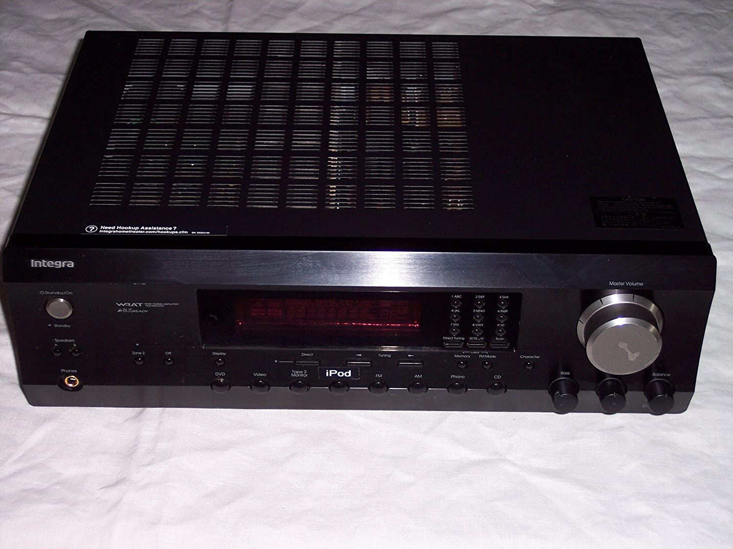 Integra Dtm 53 Am Fm Av Receiver Amplifier Multi Zone Load Cell Ldu 691 Specifications No Remote Home Audio Theater