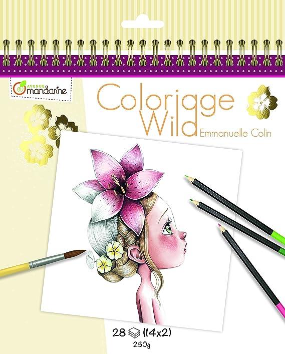 Avenue Mandarine Collectors Colouring Book 14 Designs Amazoncouk Kitchen Home