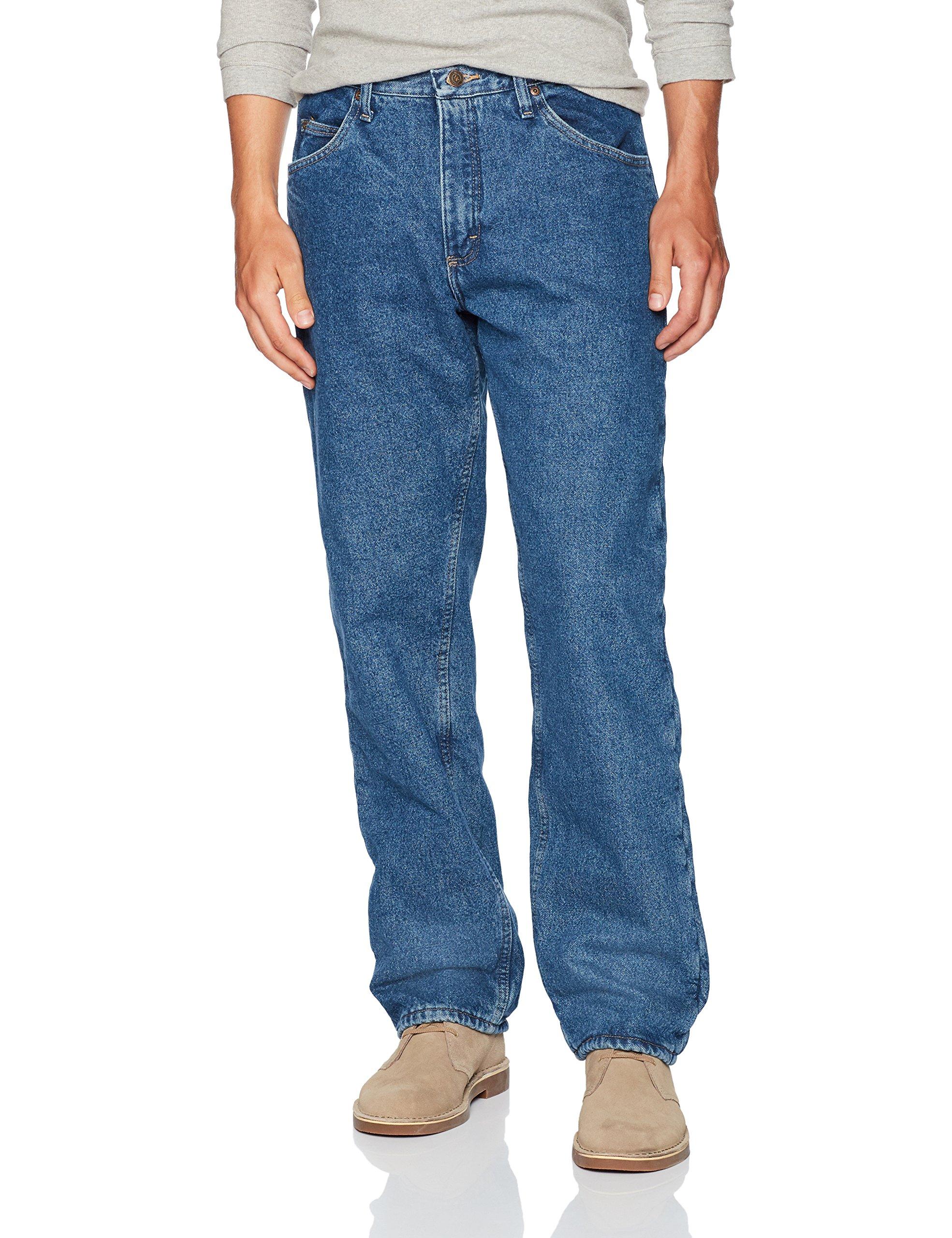 Wrangler Men's Authentics Fleece Lined 5 Pocket Pant, Stonewash, 34X32 by Wrangler
