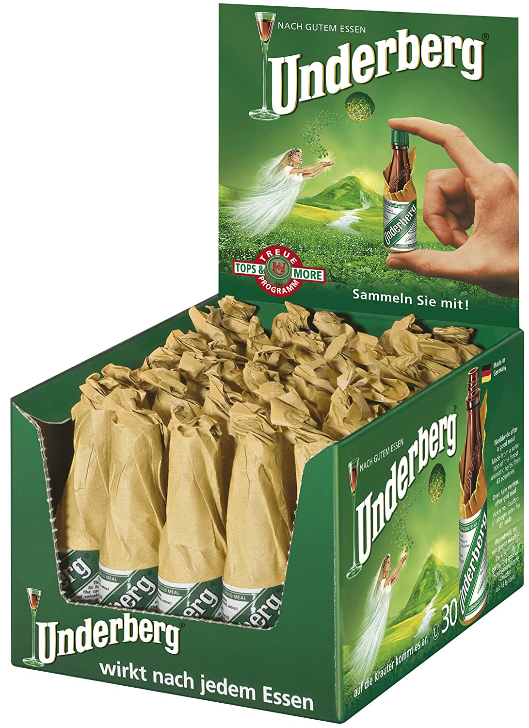 Underberg The Rheinberg Herbal Digestive Licor 30 Bottles Pack - 90 Unidades