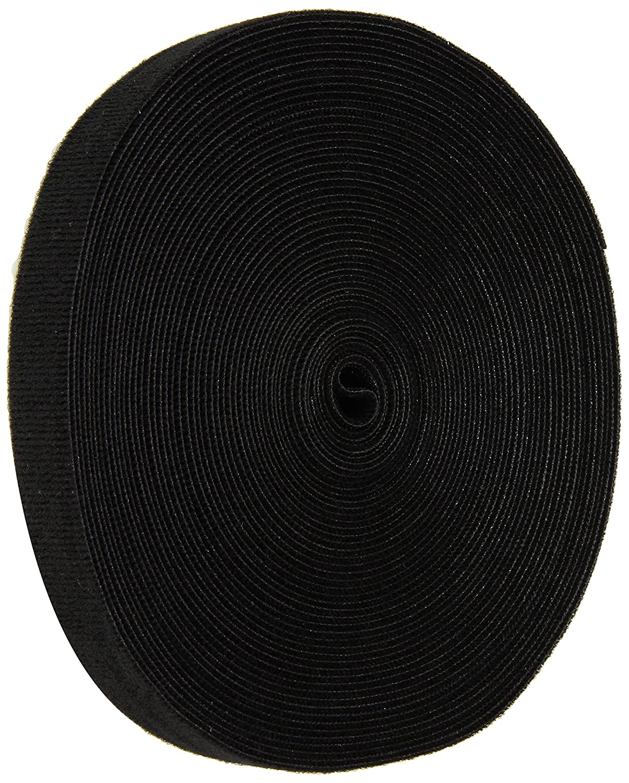 10 Length VELCRO 1804-OW-PB//B Black Nylon Onewrap Velcro Strap Hook and Loop 1 Wide