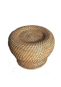 Wobaca Cane Round Moda Stool(Beige)