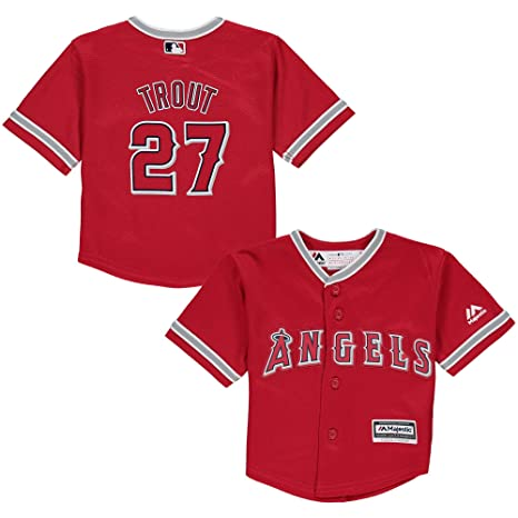 c3326f0c130 ... coupon code outerstuff mike trout los angeles angels 27 toddler cool  base alternate jersey red toddler