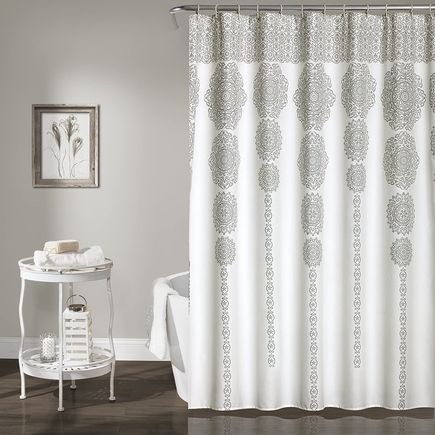 shower and product today gray collection bath free charles shipping snow curtain bedding grey inch leopard andrew white overstock
