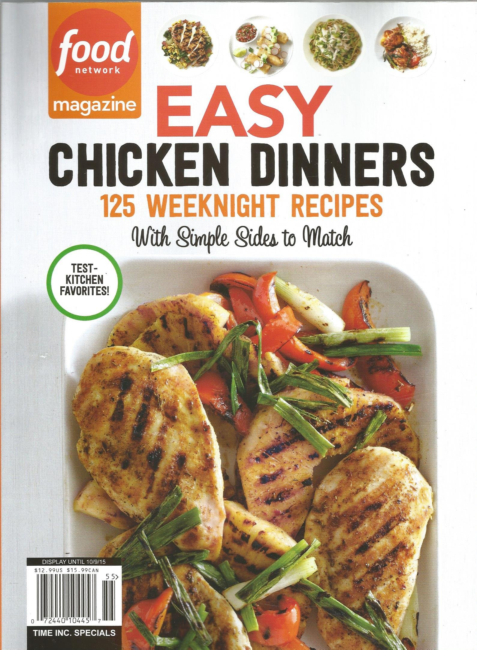 Easy chicken dinners food network magazine various amazon easy chicken dinners food network magazine various amazon books forumfinder Gallery