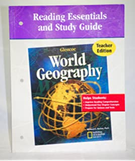 Worksheets Glencoe World Geography Worksheets glencoe world geography teacher wraparound edition mcgraw hill reading essentials and study guide edition