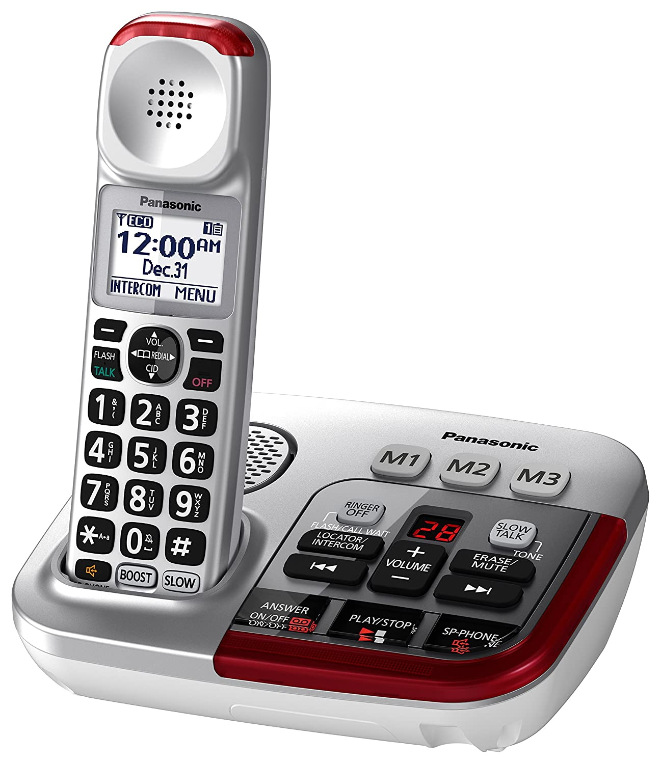 amazon com panasonic kx tgm450s amplified cordless phone with rh amazon com Panasonic Cordless Phones DECT 6.0 Remote Panasonic Phones