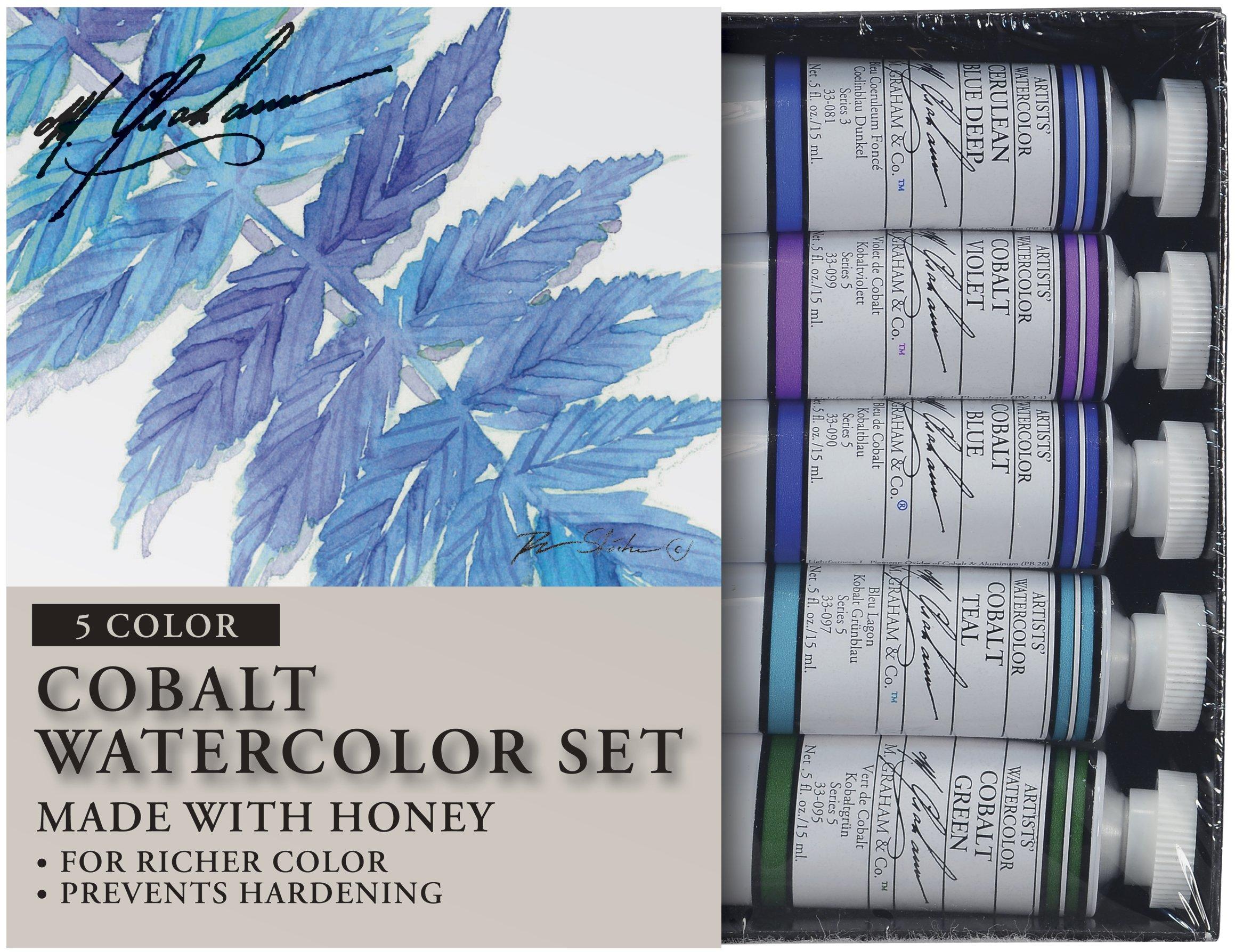 ویکالا · خرید  اصل اورجینال · خرید از آمازون · M. Graham Tube Watercolor Paint Cobalt Mix 5-Color Set, 1/2-Ounce wekala · ویکالا