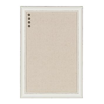 Amazon.com : DesignOvation Macon Framed Linen Fabric Pinboard, 18x27 ...