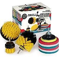 2021 Version - Drillbrush Power Scrubber Brush Set - Drill Brush Attachment - Grout Brush Drill Attachment - Drill…