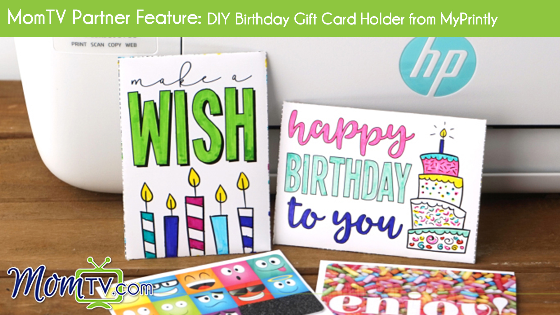 MomTV Partner Feature DIY Birthday Gift Card Holder From MyPrintly