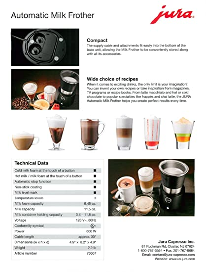 Buy jura automatic milk frother online at low prices in india buy jura automatic milk frother online at low prices in india amazon fandeluxe Images