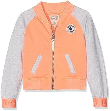 Converse Raglan Varsity Jacket, Chándal para Niñas, Naranja ...