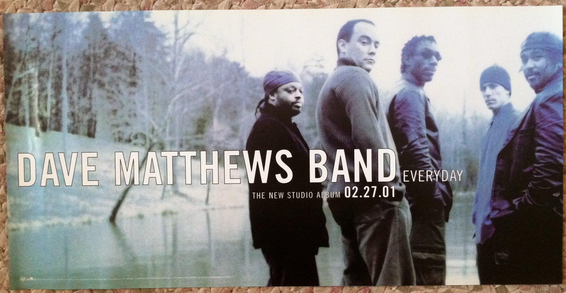 Dave Matthews - Everyday - Rare Advertising Poster 12x24