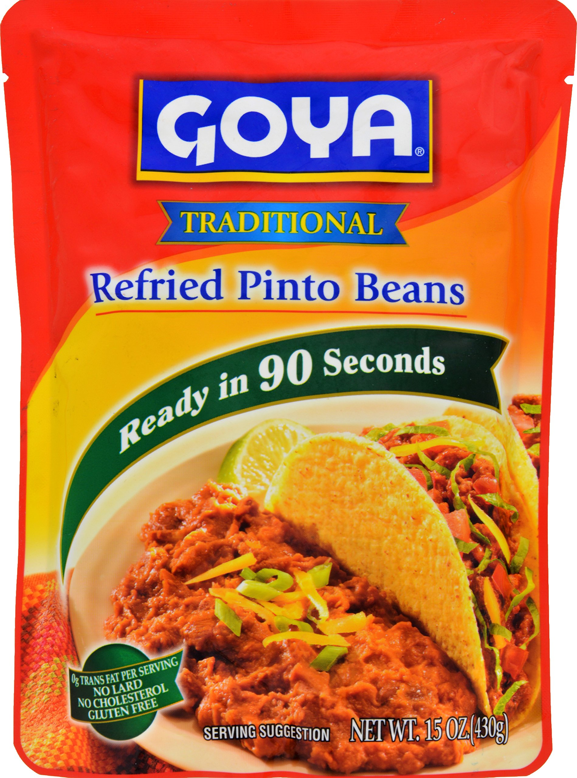 Goya Refried Pinto Beans In Pouch, 15 Ounce
