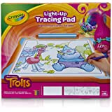 Crayola; Trolls Light-up Tracing Pad; Art Tool; Bright LEDs; Easy Tracing with 1 Pencil, 12 Colored Pencils, 10 Blank Sheets, 10 Tracing Sheets