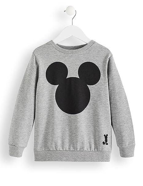 RED WAGON Sudadera de Mickey Mouse para Niños, Gris (Grey Marl 001),