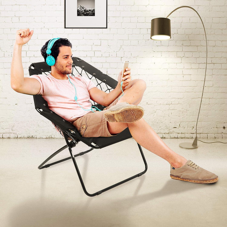 Harvil Portable Hexagon Bungee Chair, Black