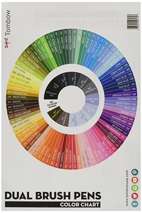 Amazon Tombow 56174 Blending Palette With Color Chart White
