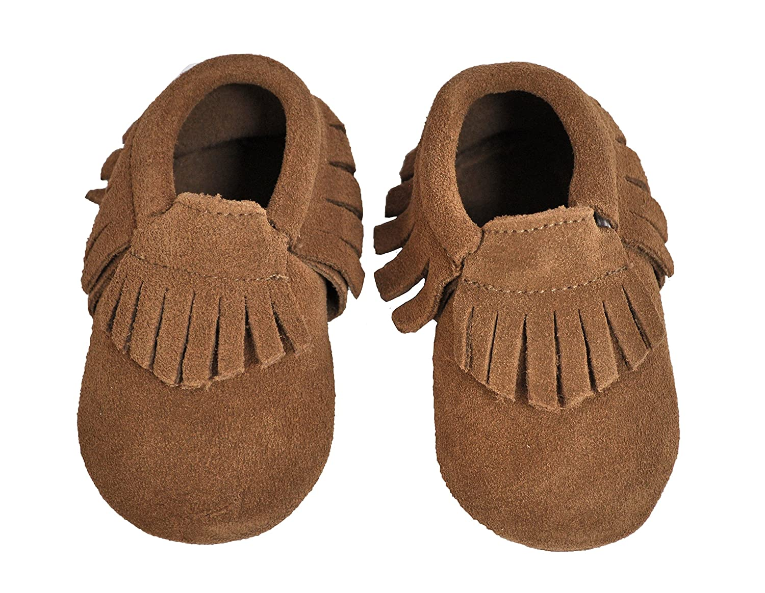 Amazon.com | Liv & Leo Baby Tassels Soft Sole Fringe Moccasins 100% Suede - Brown (12-18 Month) | Shoes