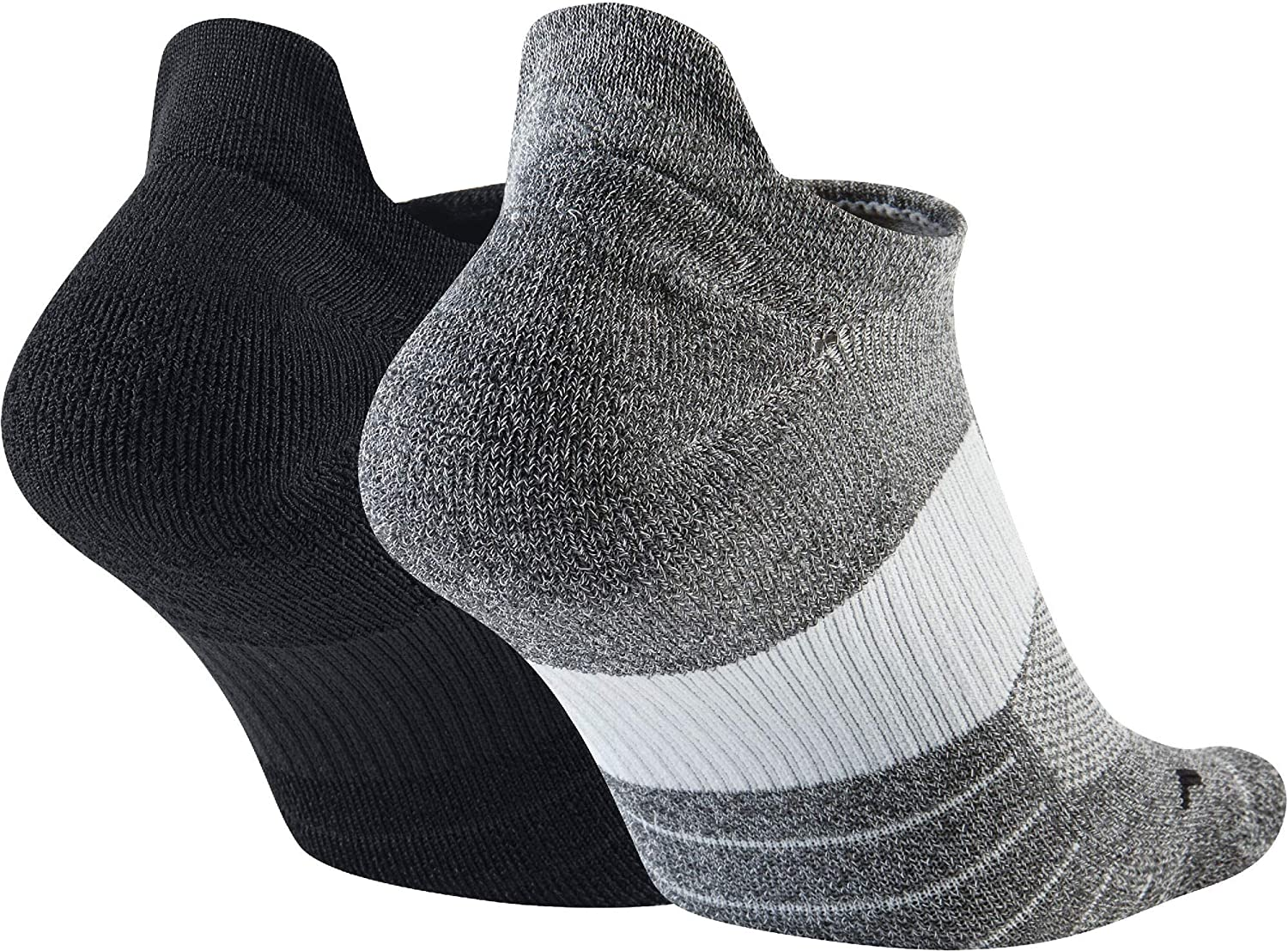 Nike unisex-adult Unisex Nike Multiplier Running No-show Socks (2 Pairs)