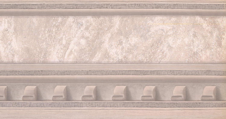 Victorian Faux Molding Beige Wall Border Retro Design Roll 15 ft Prepasted Wallpaper Border x 10 in.