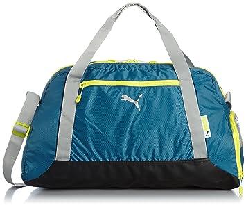 7c68ad04d3 Puma Fit at Sports Women s Duffel Bag blue Blue Coral Limestone Gray Sulphur  Spring
