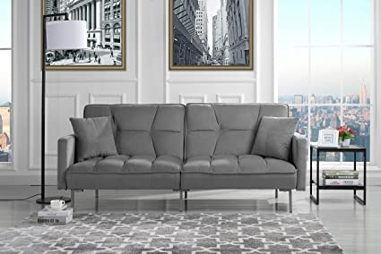 Amazon Com Divano Roma Furniture Modern Plush Tufted Velvet